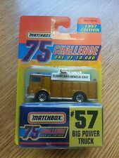 MATCHBOX 1997 75 CHALLENGE  GOLD CAR  #57 BIG POWER TRUCK NEW ON CARD STOCK