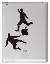 Soccer Players vinyl sticker for Apple iPad. Australia made