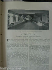 Antique 1898 Photo Article Victorian Complete Model Railway Full Room London &NW