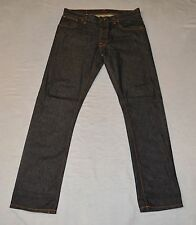 A8 Auth NUDIE NJ3594 Hank Rey Org Dry Deep Indigo Organic Cotton Jeans Size 34