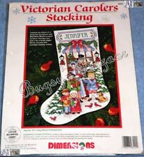 Dimensions VICTORIAN CAROLERS Counted Cross Stitch Christmas Stocking Kit - Mock