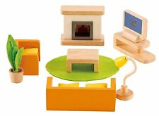 Hape - Happy Family Doll House - Furniture - Media Room , New, Free Shipping