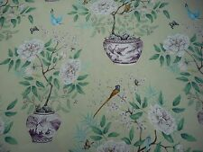 Zoffany Curtain Fabric 'Romey's Garden' 2 METRES (200cm) Old Gold 100% Linen
