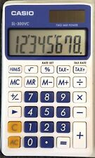 Casio SL-300VC Pocket Calculator with case & instructions