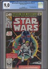 Marvel Movie Showcase #1 CGC 9.0 1982 Star Wars #1-3 Reprinted : NEW Frame Nice