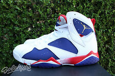 NIKE AIR JORDAN 7 VII RETRO SZ 10.5 OLYMPIC ALTERNATE TINKER RED WHTE 304775 123