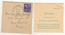 1946 BOAT LAUNCH ANNOUNCEMENT SS Stephen Harvers Sedgwick NEW BEDFORD MASS MA
