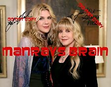 STEVIE NICKS LILY RABE Signed Autograph RP PHOTO AMERICAN HORROR STORY:COVEN