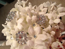 5 Large Crystal Cluster Rhinestone Flower Bouquet jewelry cake picks-CUSTOM LIST