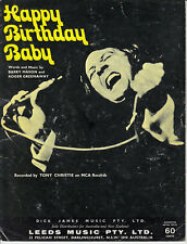 Happy Birthday Baby-1974-Barry Mason-4 Page-Sheet Music