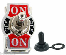 Heavy Duty 20A 125V DPDT 6 Term (ON)-OFF-(ON) Momentary Toggle Switch with Boot
