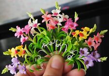 10 Pcs Miniature Handmade Colorful Dendrobium ORCHIDACEAE Clay Flower Home Decor