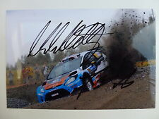 MADS OSTBERG SIGNED M-SPORT FORD FIESTA WRC PHOTOGRAPH
