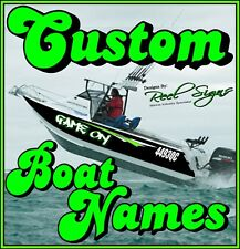 2x CUSTOM BOAT YACHT NAMES + Shadow/Outline 1200mm - Decal Sticker Graphic Kit
