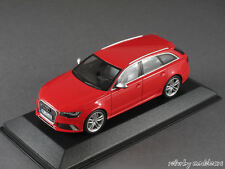 1/43 MINICHAMPS AUDI rs6 avant (c7) 2013-rouge - 141281