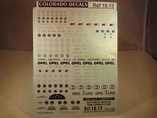 DECALS 1/18 LOGOS VOITURES ALLEMANDES - COLORADO  1813