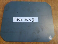 150mm x 180mm x 3mm Round Disc Rectangle Circle Mild Steel Sheet Plate