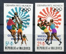 MALEDIVEN MALDIVE 1972 Olympiade Olympics München Ungezähnt Imperf. 430-431B **
