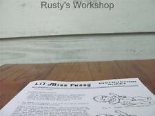 1960's Deluxe LIL MISS FUSSY INSTRUCTIONS sheet (Reproduction)