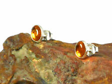 AMBER   Sterling  Silver   925  Earrings / STUDS  -   Gift Boxed!