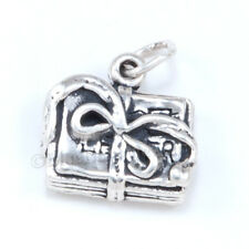 3D DIARY Book Journal WRITER Charm Pendant accountant 925 Sterling Silver school