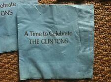 1992 Bill Clinton Political Table Napkins Don't Stop Thinking About Tomorrow