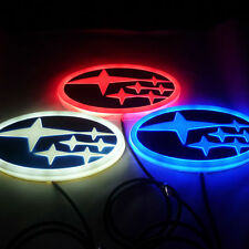 LED 4D logo Light badge for Subaru Forester XV Legacy Impreza Outback Tribeca