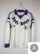 Retro TOULOUSE 88/89 L/S Home Football Shirt (M) Soccer Jersey Vintage Adidas