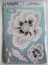 INDIGOBLU A5 CLING MOUNTED RUBBER STAMP - GIANT POPPY