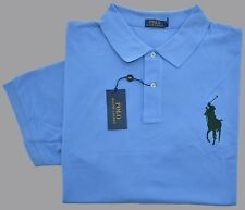 New 2XLT 2XL TALL POLO RALPH LAUREN Men short sleeve Big Pony shirt blue 2XT top