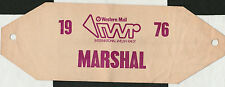 1976 WESTERN MAIL INTERNATIONAL WELSH RALLY MARSHAL ARMBAND ENTRY PASS TICKET