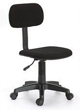 Hodedah Armless Task Chair, Black, New, Free Shipping