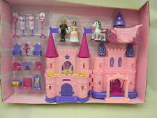 Princess Beauty Castle Play Set Horse Carriage Furniture Swing Prince Figure