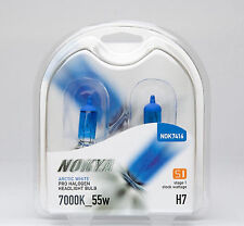 Nokya Halogen Arctic White Headlight Light Bulbs H7 7000K 55W S1 NOK7416