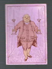 Playing  Cards 1 ANTIQUE SQ CORNER GENTLEMAN  HOLDING 2 CANDLE STICKS  SQ83