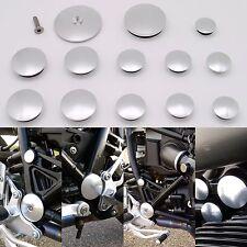 BMW R Nine t R9T Frame Insert Plugs - Silver 2014+