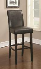 "Dark Brown 9"" Seat Height Parson Bar Stool Chair by Coaster 130060 - Set of 2"