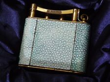 Extremely Rare 1930's Dunhill Paris Shagreen and Gold Plated Vanity Lighter