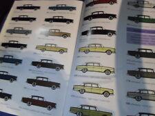 Folleto Benz Aleta Trasera W 110 111 Coupe Color De Muestra Carta De Colores