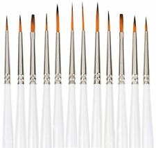 Artist Paint Brush Set of 12 Art painting Acrylic Oil Watercolor Drawing Supply