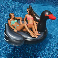 Swimline Giant Inflatable Black Swan