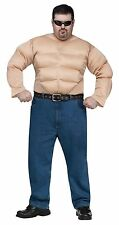 Mens Muscle Shirt Padded Chest Arms Costume Suit Meathead Adult XXL PLUS SIZE