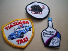 Nos Vintage 70s Tiajuana Taxi Hairy Hippy Peace Sign Monster Novelty Patch Retro
