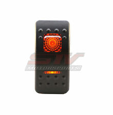 20 Amp Red Light Rocker Switch OFF/ON/ON Boat Marine Polaris RZR 2014 Car Truck