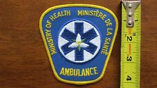 ONTARIO MINISTRY OF HEALTH AMBULANCE EMT PCP EMS PARAMEDIC PATCH CANADA CANADIAN