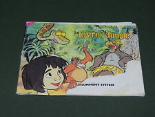 le livre de la jungle mode d'emploi seul Instruction booklet Jeu Nintendo Nes
