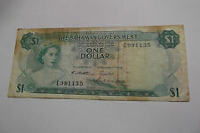1965 BAHAMAS $1 DOLLAR NOTE