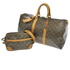 AUTH LOUIS VUITTON TROCADERO 24 KEEPALL 45 SHOULDER HAND BAG SET PURSE 16732js A