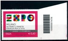 Italia 2012 Expo con codice a barre Mnh