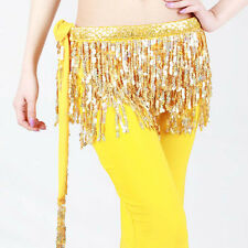 Latin Cha Cha salsa Ballroom Belly Dance Belt Sequins Tassel pratice Mini Skirt